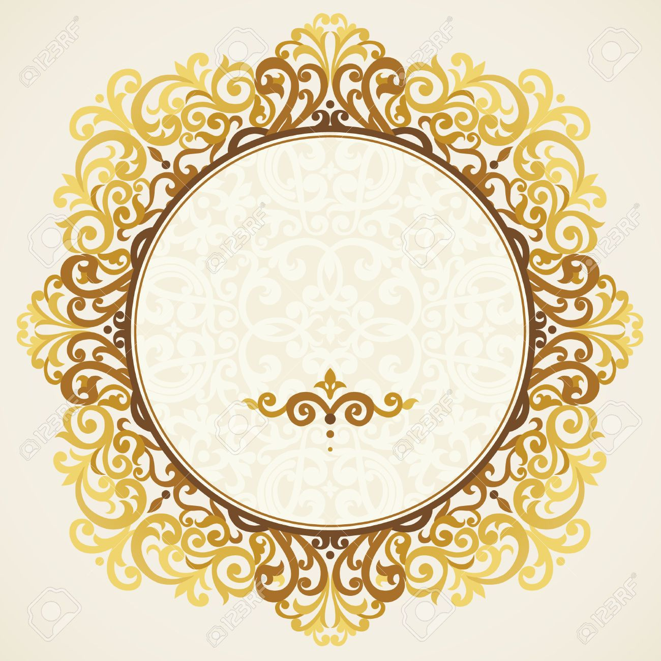 30404985-Vintage-ornate-frame-in-east-style-Golden-Victorian-floral ...