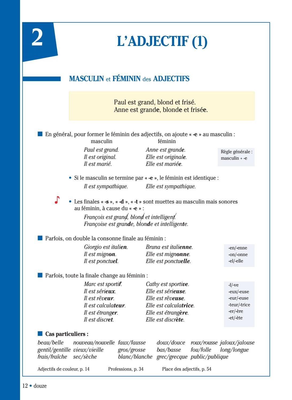 Extrait Grammaire Progressive Du Francais Niveau Intermediaire 4e Edition A2 B1 Grammaire Progressive Du Francais Phrases En Francais Mots Francais