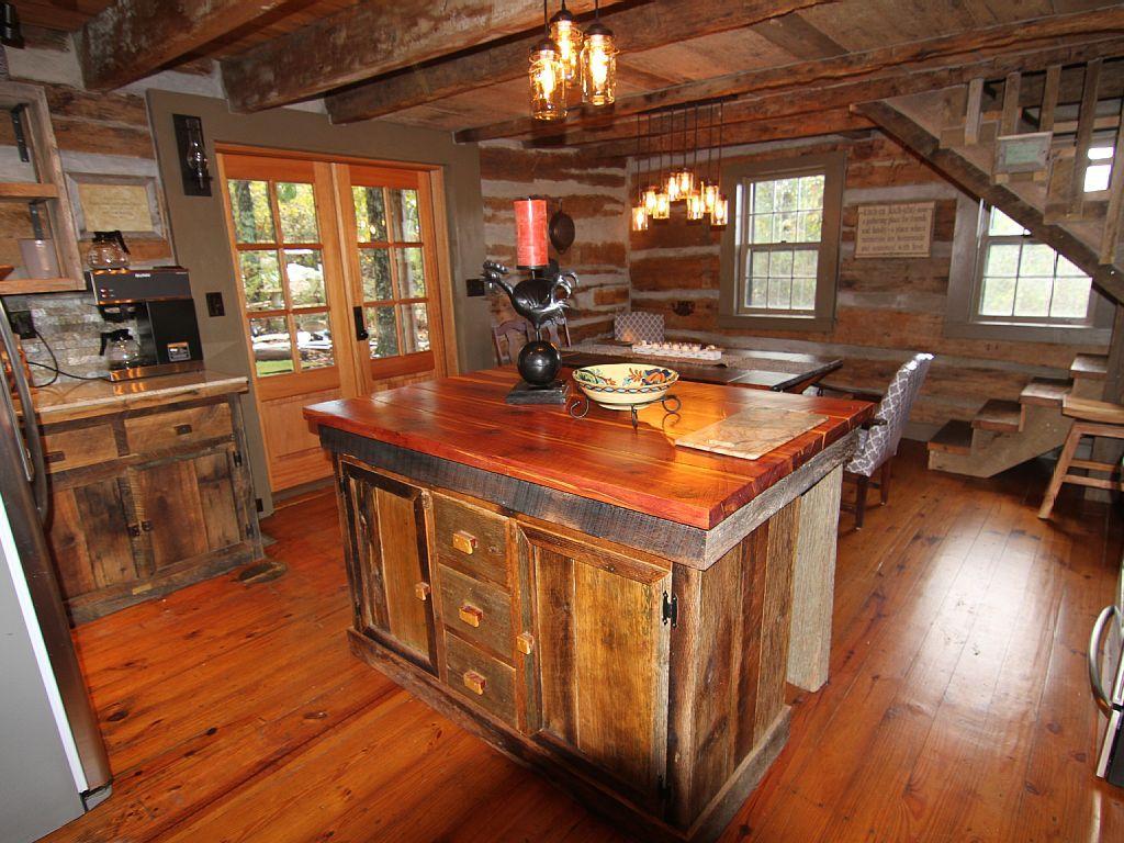 guntersville lake cabin rental renovated kitchen with granite guntersville lake cabin rental renovated kitchen with granite counters barnwood cabinets stainless appliances