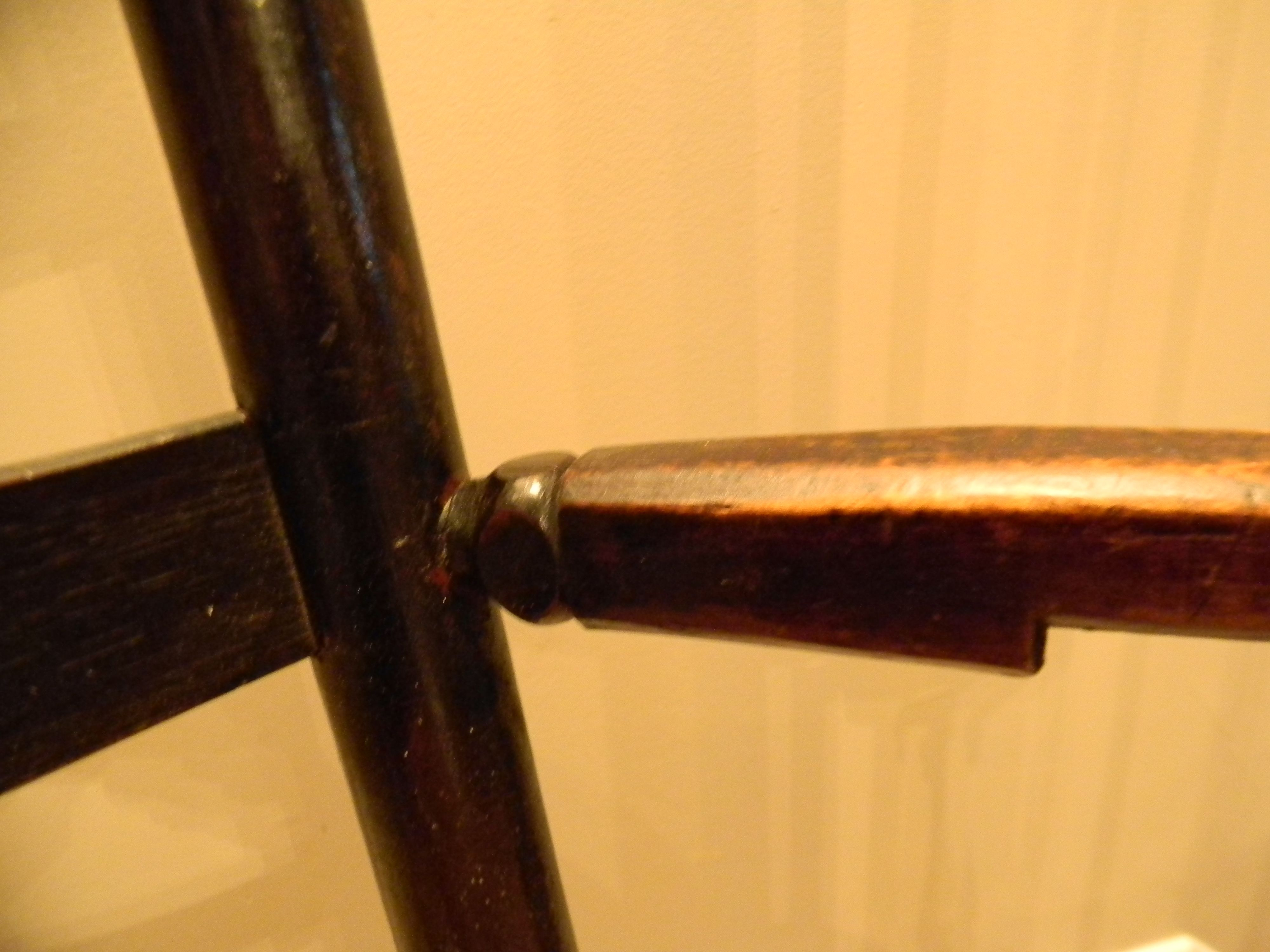turned ends on the armrests where they are joined into the stiles