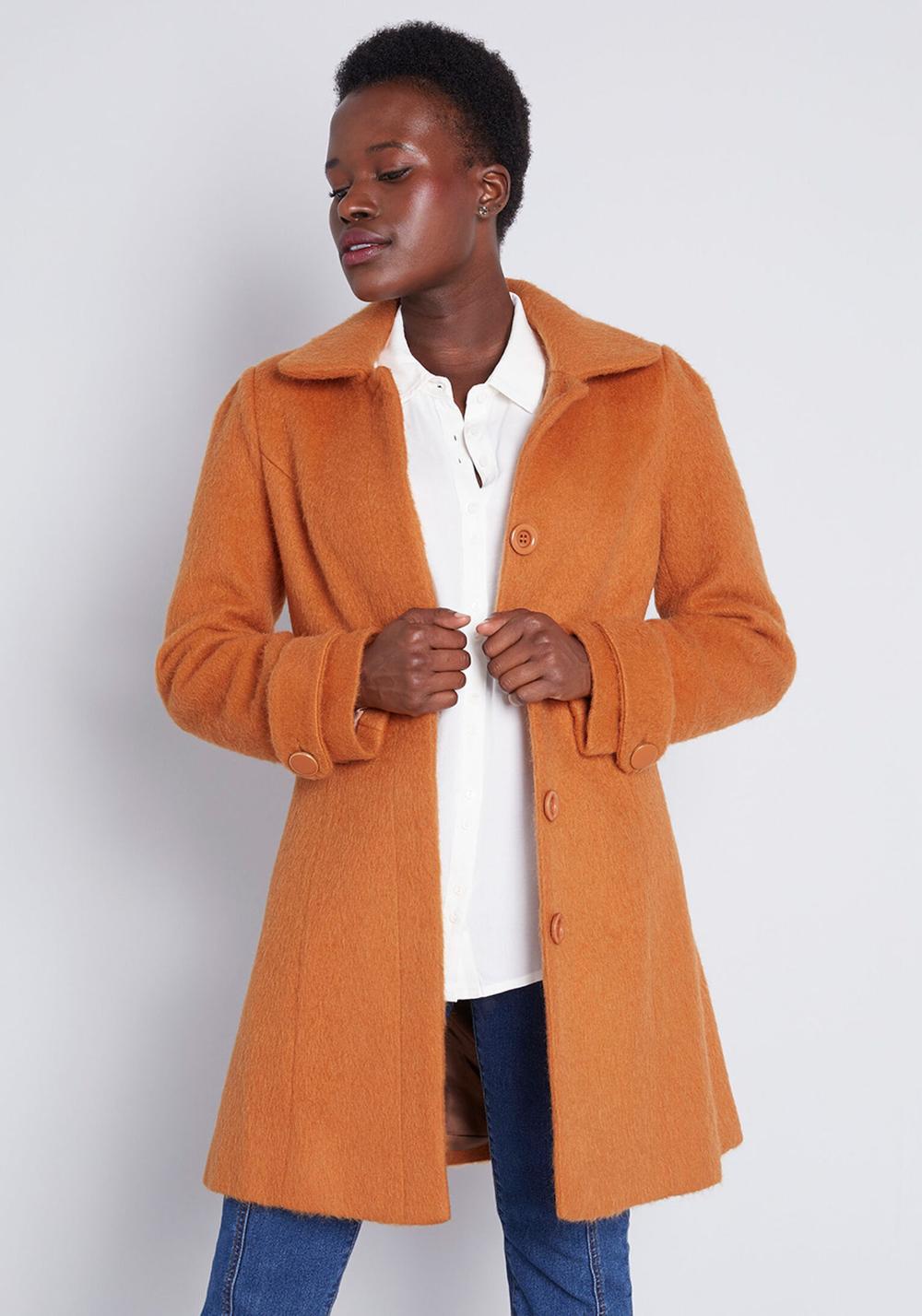 ModCloth Ladylike Lately Collared Coat Rust | ModCloth