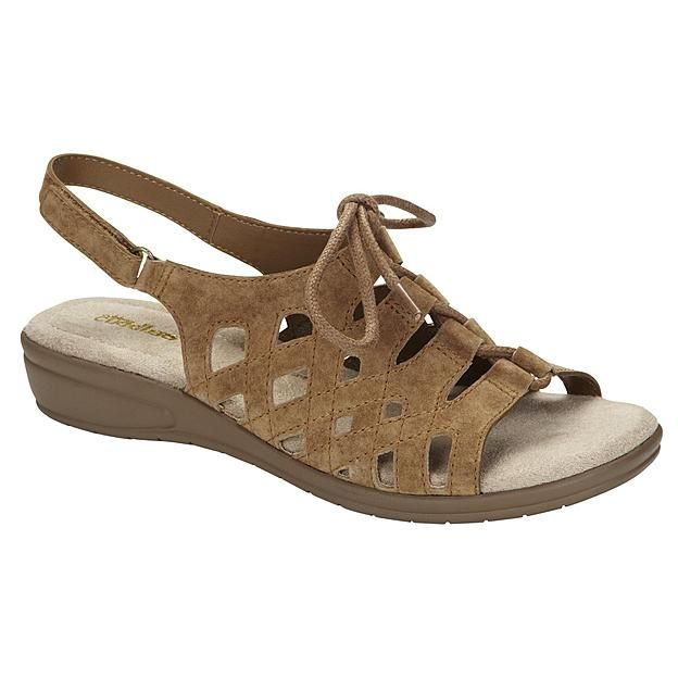 Tan leather sandals, Leather