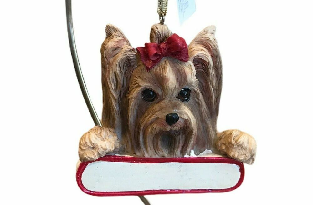 Yorkie Christmas Ornament Santa S Pal Yorkshire Terrier Dog New Esimports In 2020 Yorkshire Terrier Dog Yorkie Terrier Dogs