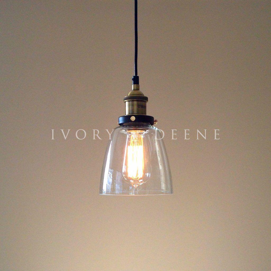 Mini Pendant Lights For Bathroom lucy pendant light clear glass brass fittings | pendant lighting