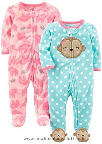 efe145877 Baby Girl Clothes Simple Joys by Carter s Baby Girls  2-Pack Fleece ...
