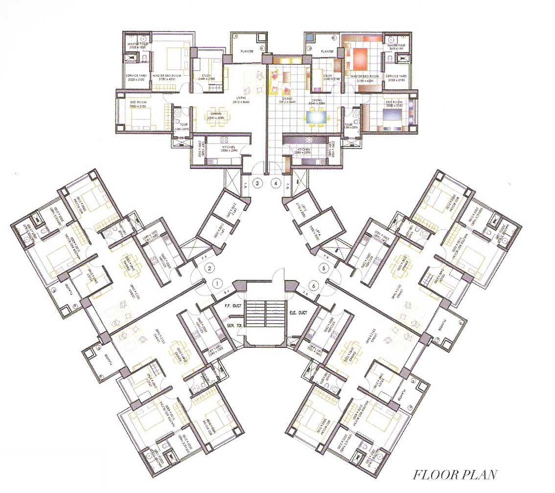 Resultado De Imagen De High Rise Residential Floor Plan Residential Building Plan Apartment Architecture Architectural Floor Plans
