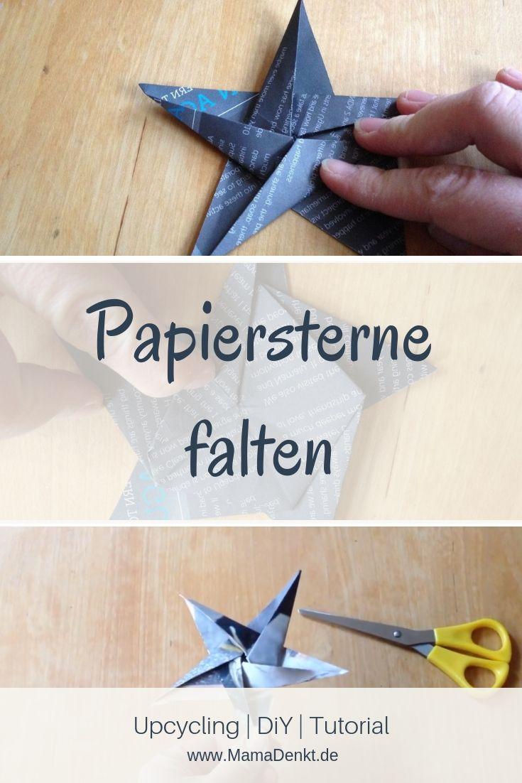 24. Papiersterne falten - Video-Tutorial | MamaDenkt.de #sternebastelnmitkindern