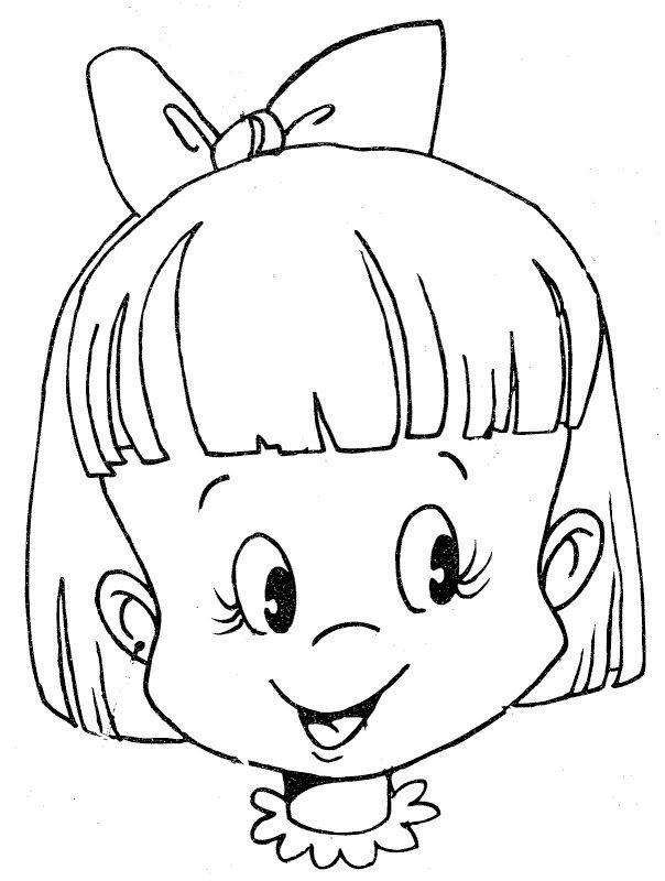 face coloring page girl mail Girl He… | classroom organigation ...