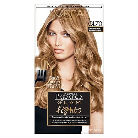 L Oreal Paris Superior Preference Glam Lights Gl70 Dark Blonde To Light Brown Box Hair Dye Hair Dye Brands At Home Hair Color