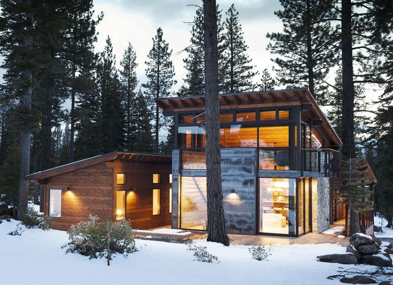 Marvelous Modern Mountain Home In Truckee, California is a Prefab Hybrid.