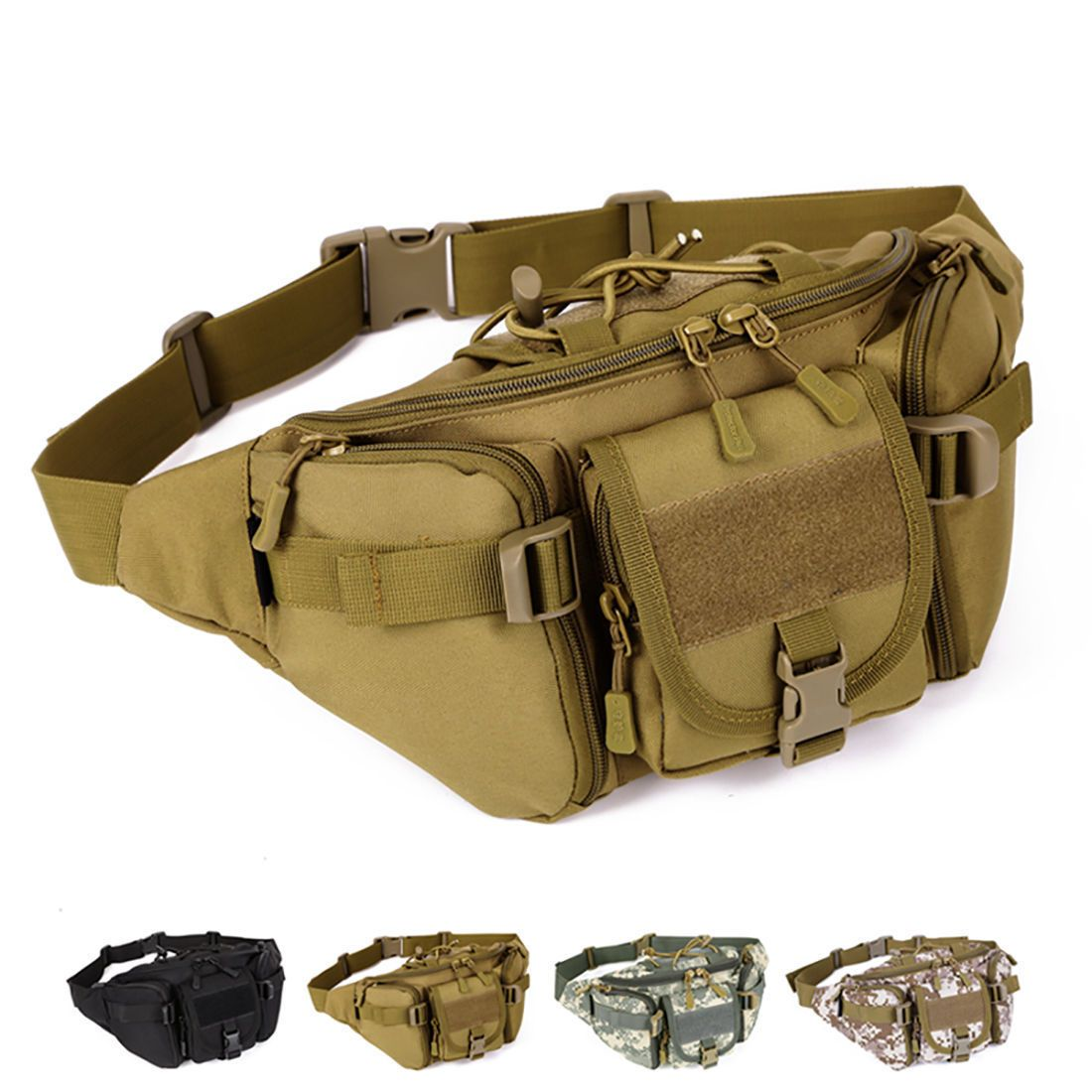 Fine Jewelry 2019 Latest Design New Men Waterproof Nylon Travel Military Travel Messenger Shoulder Sling Chest Hip Bum Belt Fanny Pack Waist Bag Purse