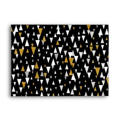 Triangle modern art black gold envelope cyo customize design triangle modern art black gold envelope cyo customize design idea do it yourself solutioingenieria Gallery