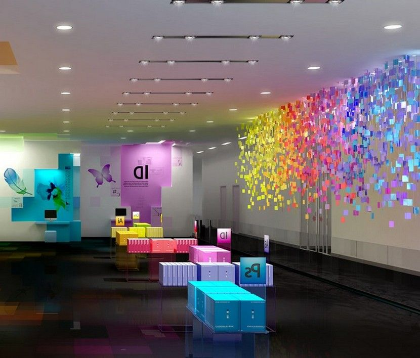 Ultra Cool Fun Creative Interior Design: Adobe Cool Office Atrium And Thematic Visitor Exhibit