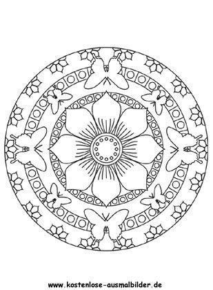 ausmalbilder mandala schmetterling 03 | basteln | pinterest