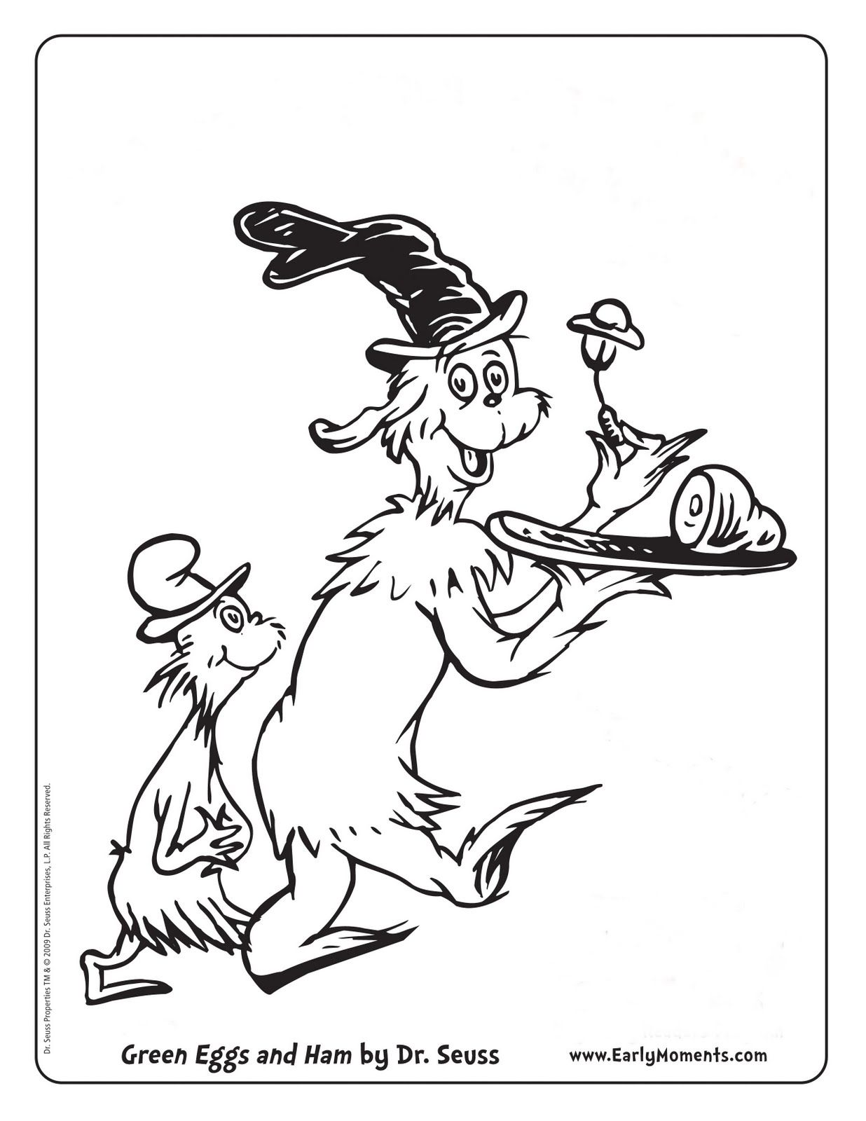 Green Eggs And Ham Coloring Dr Seuss Coloring Pages Dr Seuss
