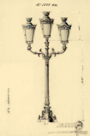 A Triple Branched Street Lamp Made By Lacarriere 19th Century For Illuminating The Puente De Espana Over The Pasig River Street Lamp Street Light Manila