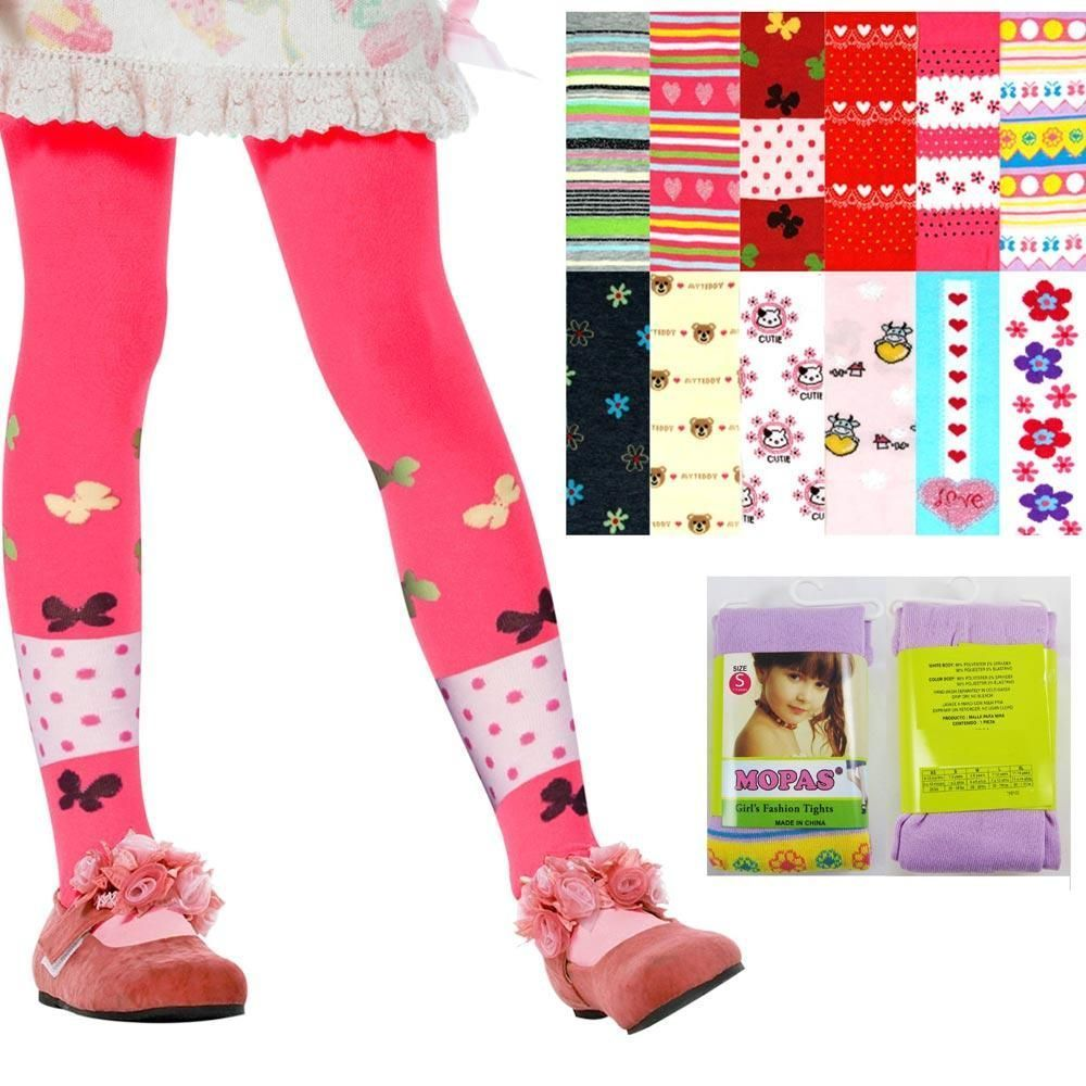 71b360da55dbb 6 Cute Baby Kid Girl Tights Socks Stockings Pants Hosiery Pantyhose 1-3  Years Sm