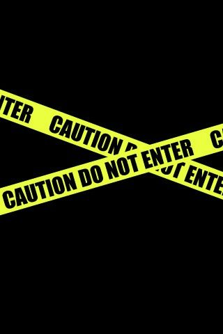 iPhone Wallpapers HD from iphonewallpaperclub.com,  Caution Tape iPhone Wallpaper Download