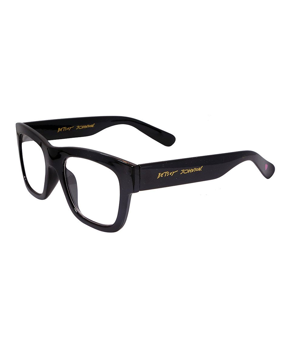 This Black Bold Frame Readers by Betsey Johnson is perfect ...