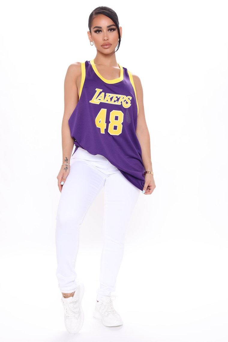 NBA Head Coach Lakers Jersey Top- Purple in 2021 | Lakers outfit ...