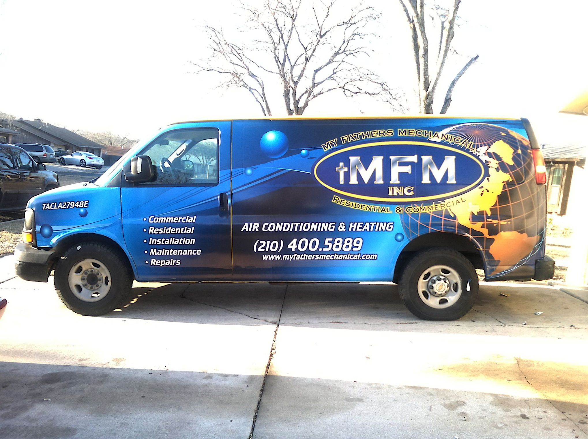 Complete van wrap for a local air conditioning company