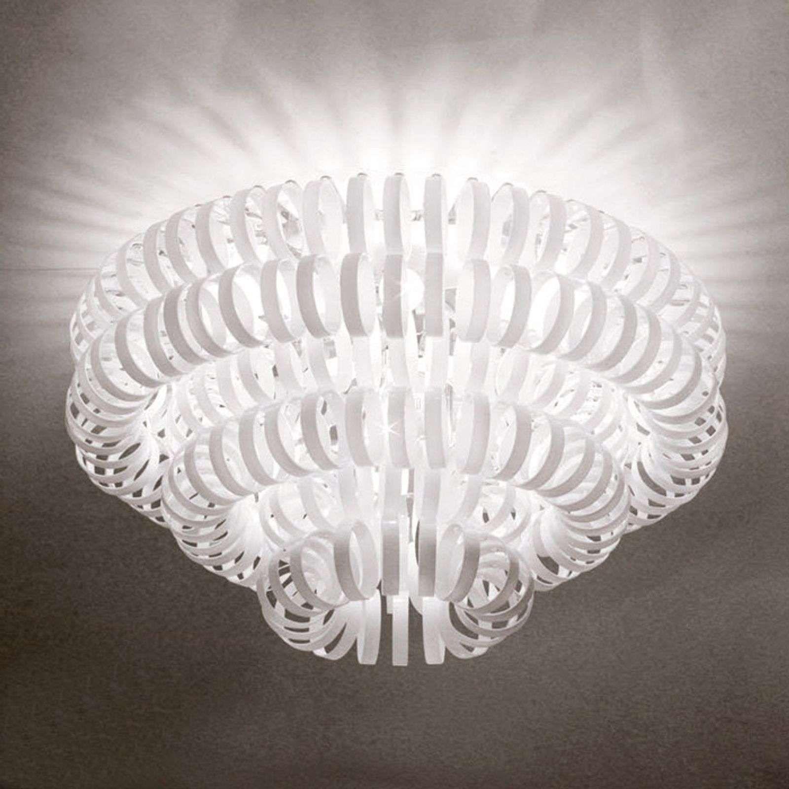 Glas Plafondlamp Ecos Wit In 2020 Plafondlamp Glas Badkamer
