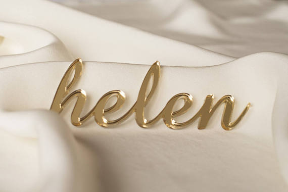 Mirror acrylic name cards for party, Wedding place cards, Acrylic