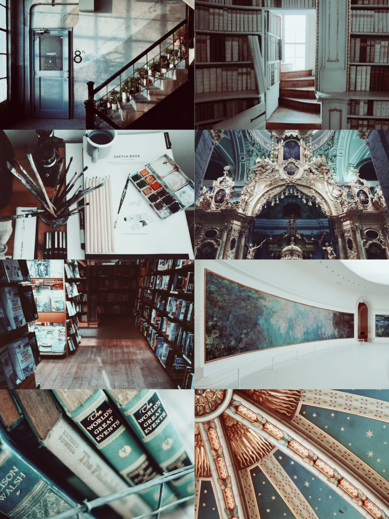"""ginnys: """" hp aesthetic: Ravenclaw Common Room """"The stars; the stars ..."""