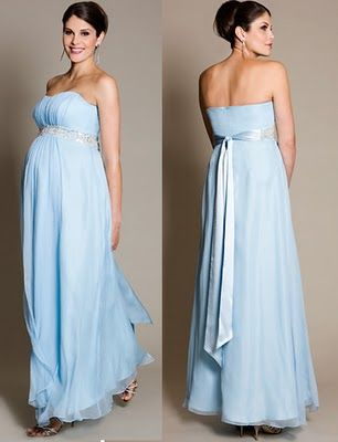 Imagenes de vestidos largos para mujeres embarazadas