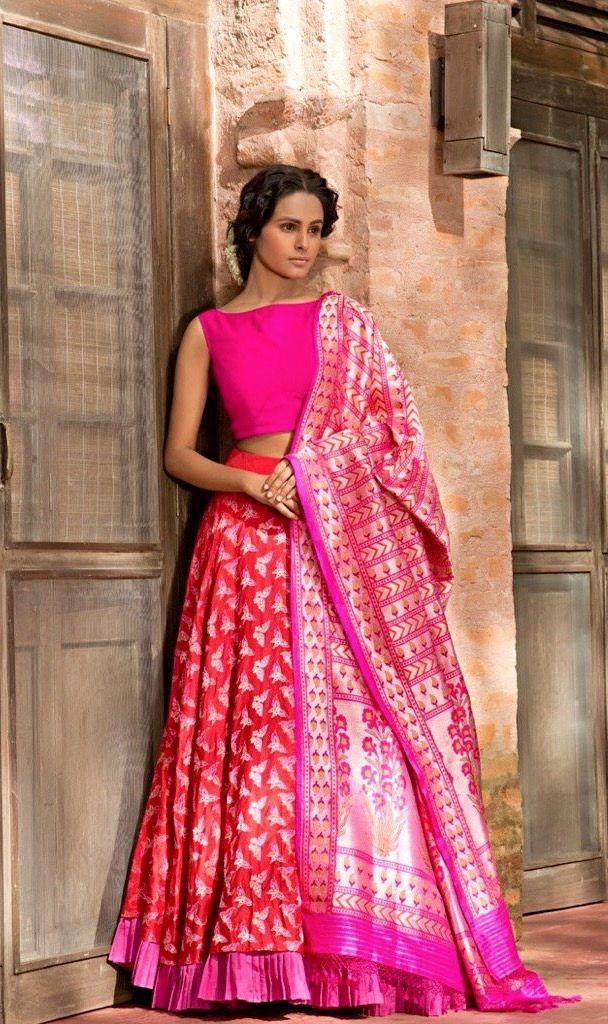 Benares weave Lehenga Choli. | House of Blouse | Pinterest | Falda ...
