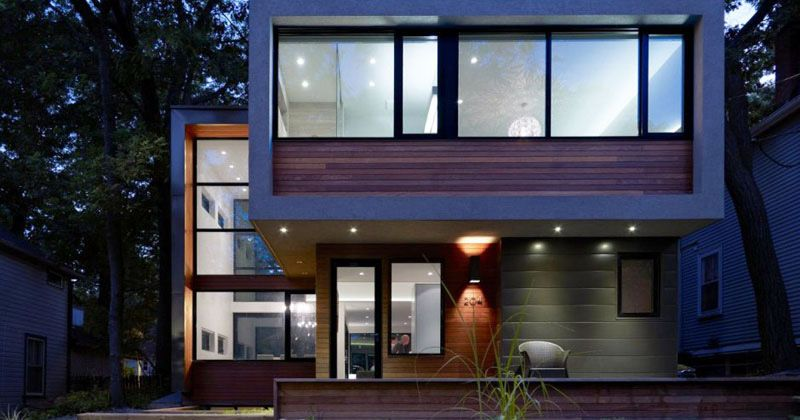 Altius Architecture designed this modern home in Toronto, Canada ...