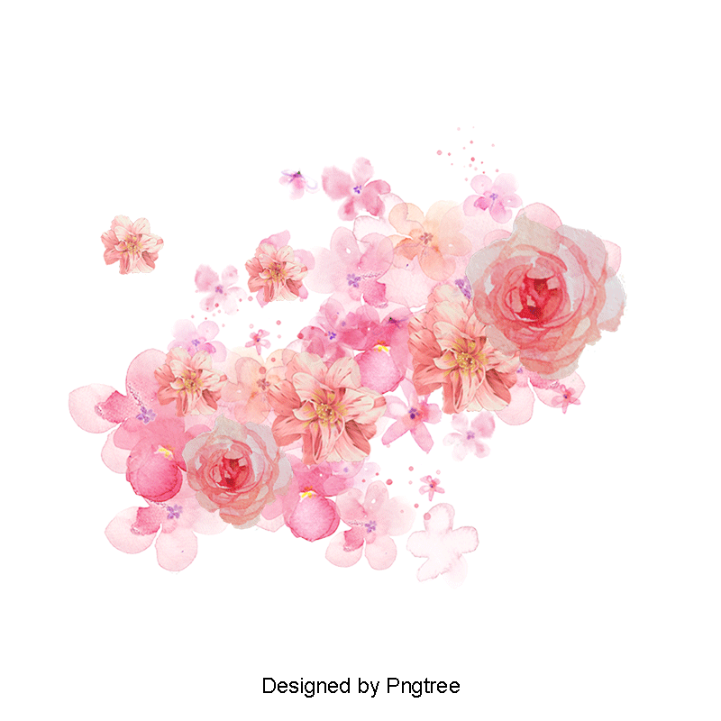 Watercolor Flowers Shading Pink Flowers Painted Material Petal Png Transparent Clipart Image And Psd File For Free Download Watercolor Flowers Flower Png Images Watercolor Flower Background