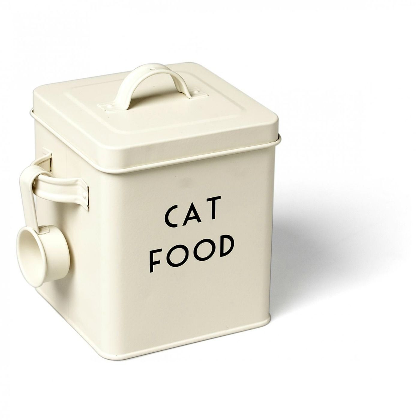 Deco Style Cream Cat Food Container With Scoop Dog Food Container
