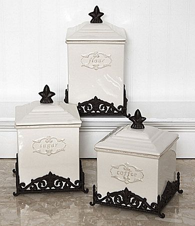 dillards kitchen canisters daniel cremieux home quot marie antoinette quot canisters dillards com french country kitchen home 1591