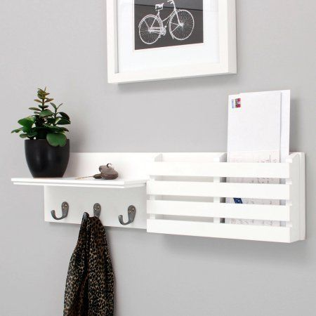 Home Mail Holder Wall Shelves White Wall Shelves