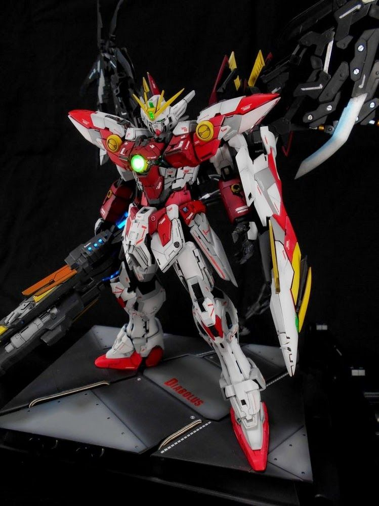 Custom Build: MG 1/100 Wing Gundam Proto Zero ~ DIABOLUS ~ - Gundam Kits Collection News and Reviews