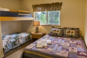 Each bedroom in Selkirk has one Queen and Twin bunk beds. Linens are available for $10 per bed.