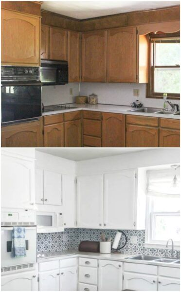 Best Painting Oak Cabinets White An Amazing Transformation In 640 x 480