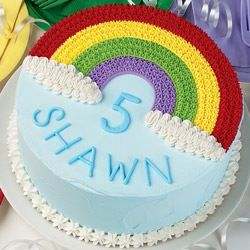 Cute Rainbow Cake Design With Images Rainbow Birthday Cake