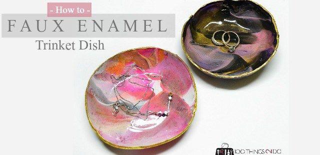 Marbled Clay Trinket Dish