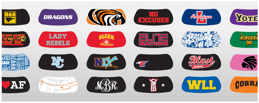Custom Eye Black Stickers