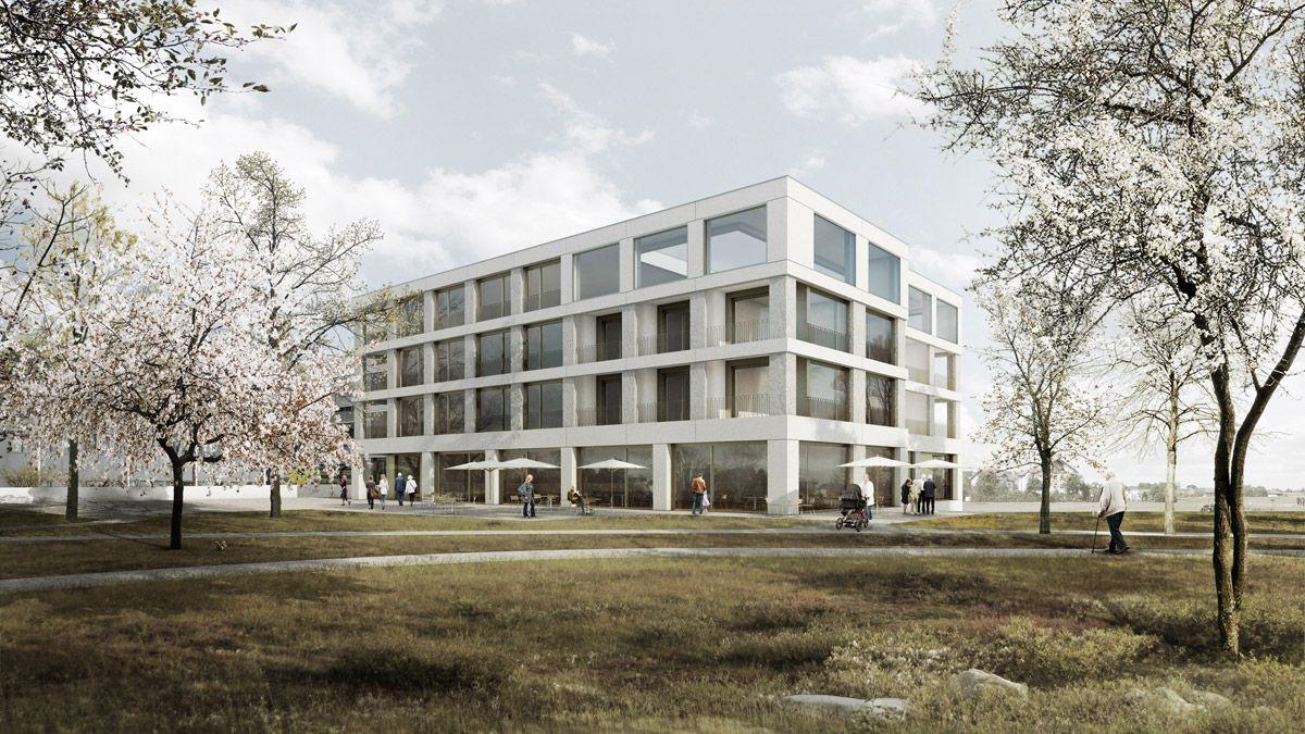 Visualisierungen Architektur bhend klammer architekten wettbewerb erweiterung plegezentrum