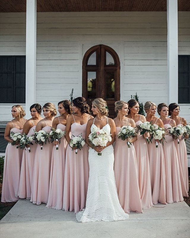 Pin By Sarah Altstadter On Wedding Board In 2020 Blush Pink Bridesmaid Dresses Light Pink Bridesmaid Dresses Pink Bridesmaid Dresses Long