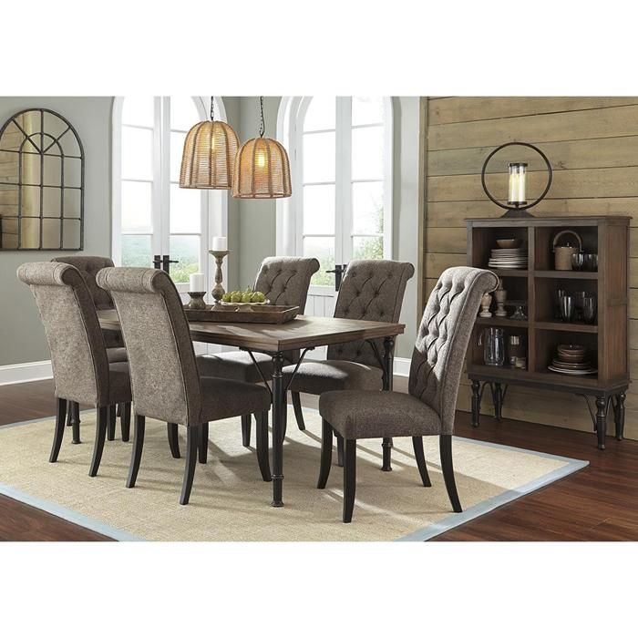 Tripton Upholstered Side Chair In Graphite Nebraska Furniture Mart Side Chairs Dining Dining Room Chairs Dining Room Makeover