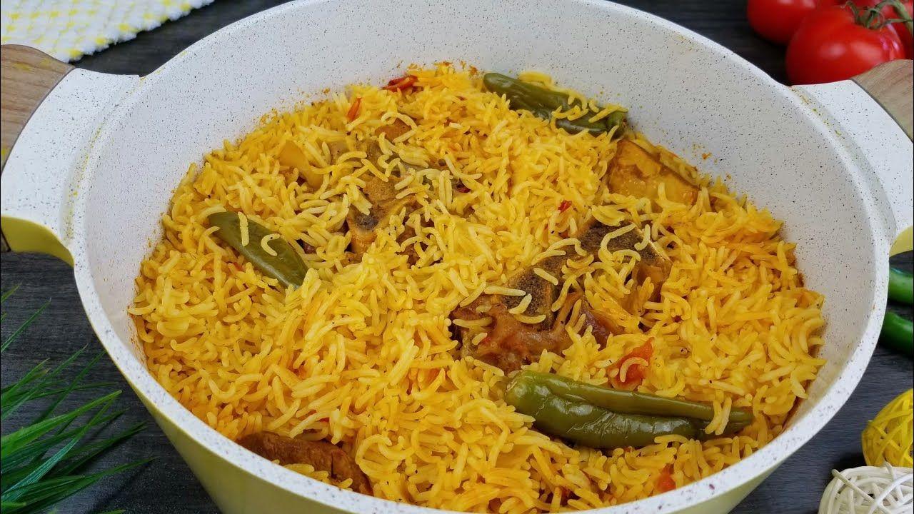 طبخة كبسة اللحم مع الرز السهلة الاحترافية Arabian Kabsa Rice Recipe Youtube Kabsa Recipe Recipes Basmati Rice Recipes