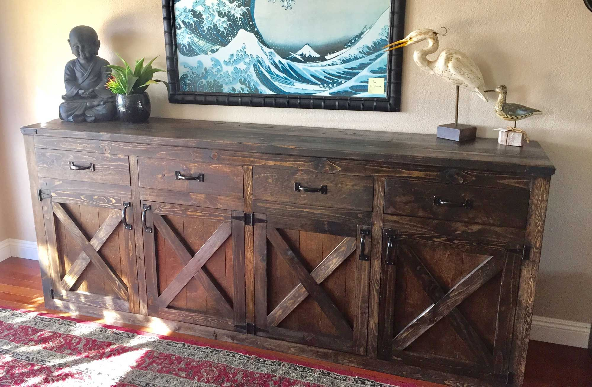 Custom 9 Foot Rustic Buffet