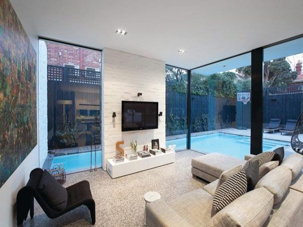 Edwardian Home and Cutting Edge Extension in Melbourne living room