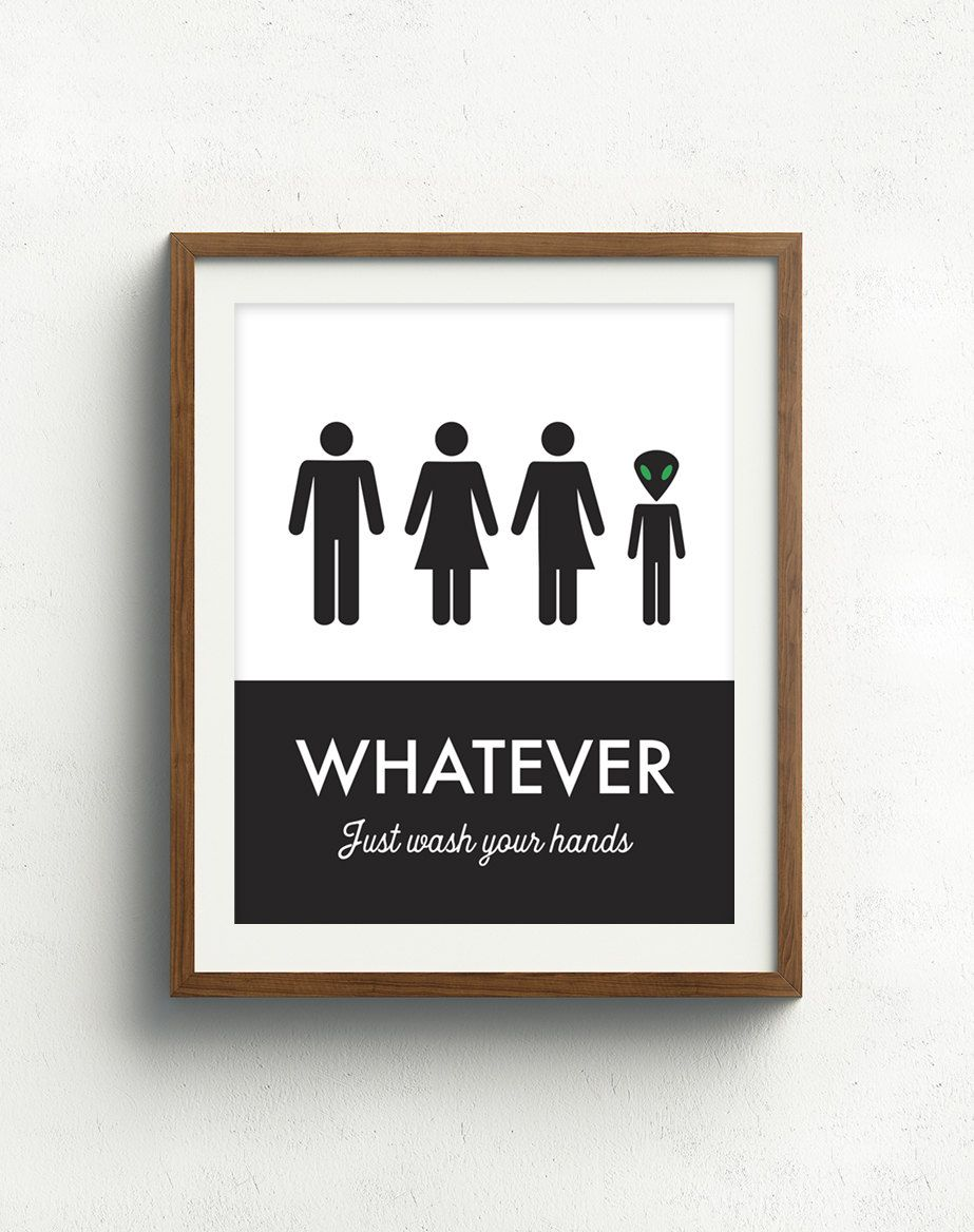Unisex Bathroom Sign Funny Bathroom Print Unisex Bathroom