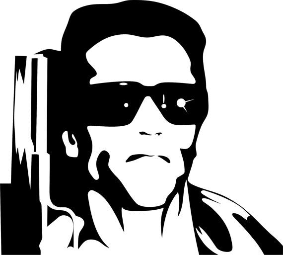 The Terminator Wall Art Imajenes De Caricaturas Imagenes De Artistas Estampados Para Remeras