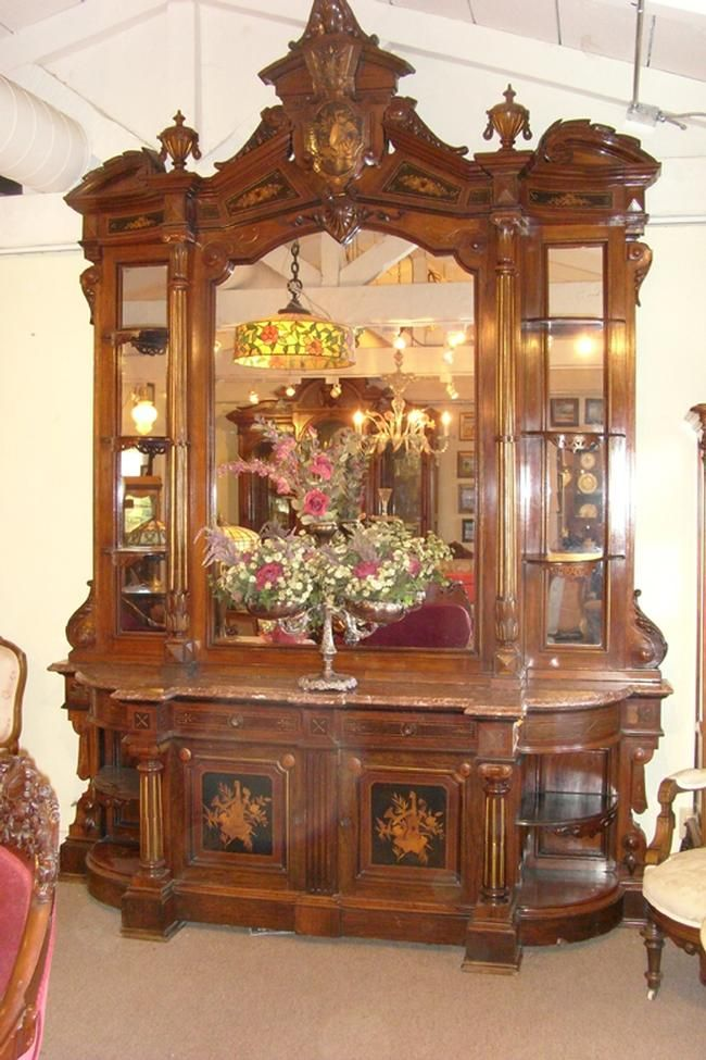 American Victorian Rosewood Renaissance Revival Etagere C 1870 S